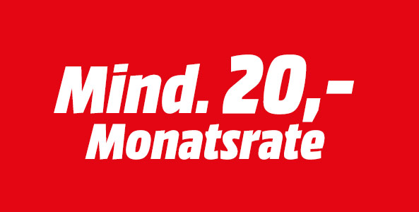 Mind. 20,- Monatsrate