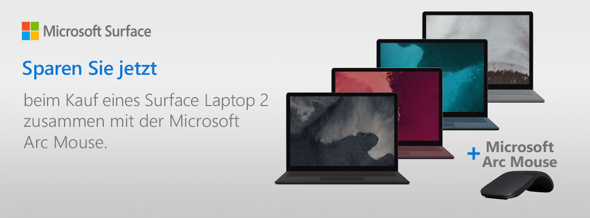 Surface Laptop 2 mit GRATIS Arc Mouse