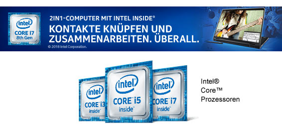 2in1 Computer mit Intel Inside